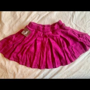 Tea Collection Pleated Terry Skirt Hot Pink Thick